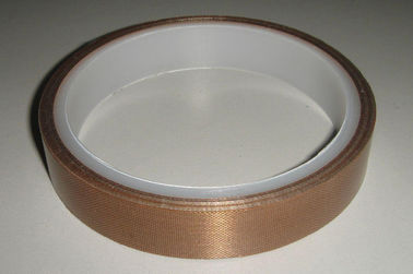 Cina Brown Tahan Suhu Tinggi Tape Fiber Glass Woven Cloth Base Material pemasok